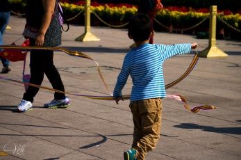 Ribbons in Tiananmen Square