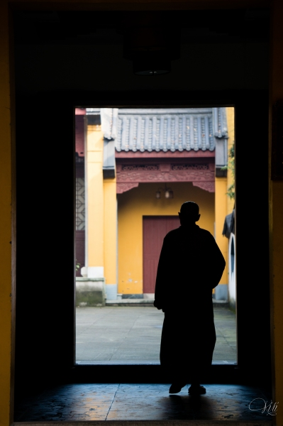 Elderly monk in Lingyin Temple