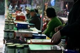 Selling green tea outside of Lingyin temple