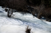 A frozen mountain stream