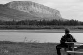 Enjoying a break at Nahanni Butte